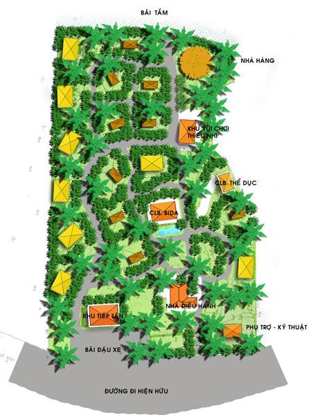 Jungle beach resort master plan